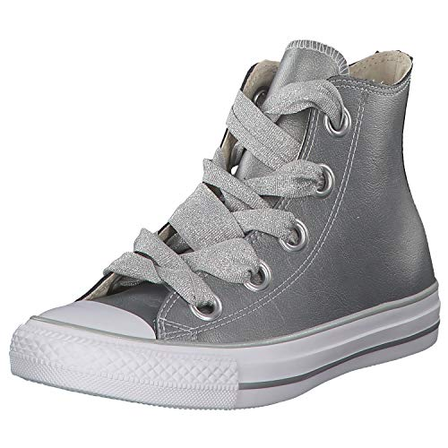 Converse Damen Chuck Taylor CTAS Big Eyelets Hi Sneakers, Mehrfarbig (Metallic Silver/White 499), 39 EU