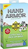 Bags on Board Poop Waste Pick-Up Bags, Hand Armor Extra Thick, 100 Count, 6 Pack
