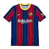 NIKE FC Barcelona Temporada 2020/21-FCB M Vapor MTCH JSY SS HMCD4185-456 Primera Equipación, Unisex, Deep Royal Blue/Varsity Maize Full Sponsor