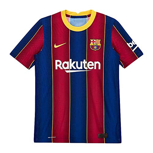 Nike 2020-2021 Barcelona Vapor Match Home Football Soccer T-Shirt Jersey