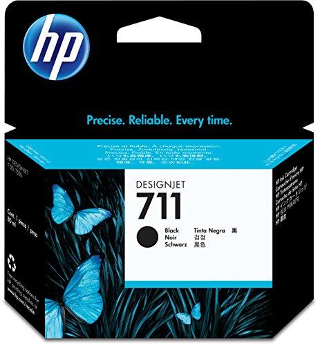 HP 711 Schwarz Original Druckerpatrone (80 ml) für HP DesignJet