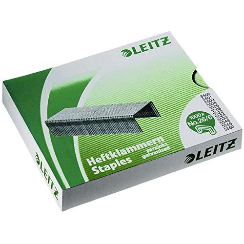 Leitz Power Performance Heftklammern P4 (24/8), Verzinkt, Box mit 1000 Heftklammern, 55710000