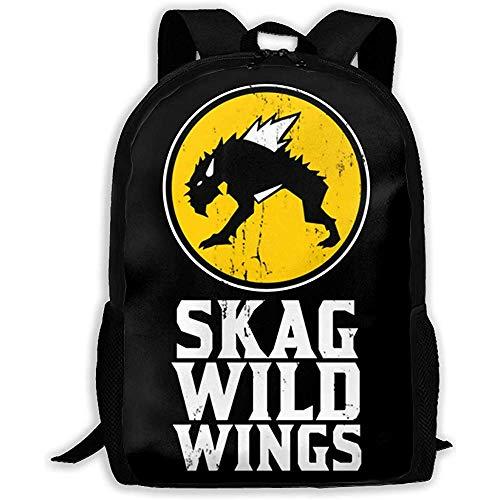 Kimi-Shop Unisex Adult Rucksack Skag Wild Wings Bookbag Reisetasche Schultaschen Laptoptasche für Männer und Frauen
