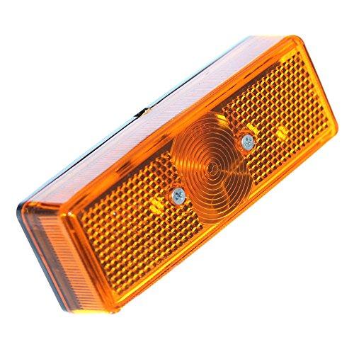 2er Set Seitenmarkierung Leuchte Begrenzungleuchten Orange Gelb Markierung W5W T10 Anhänger Kasten Transporter LKW 12V 24V Neu Old-Harvest