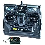 Carson 500501006 FS Reflex Stick II 2.4 GHz – 6-Kanal-Fernsteueranlage, Fernbedienung mit Empfänger für Modellbau-Fahrzeuge wie RC Autos und Schiffe, Schwarz