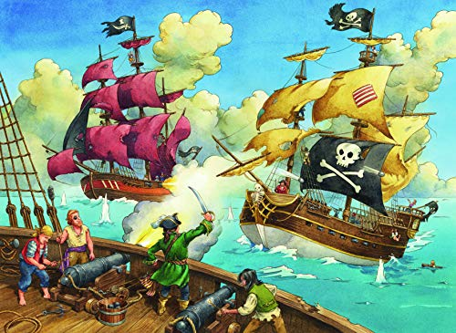 Ravensburger Pirate Battle 100 Piece Jigsaw Puzzle for Kids – Every Piece is Unique Pieces Fit Together Perfectly
