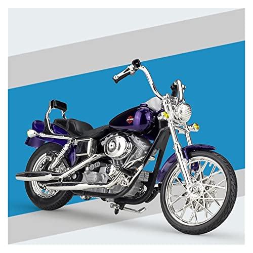 El Maquetas Coche Motocross Fantastico 1:18 Modelo Motocicleta Fundición A Presión Simulación En Miniatura Para Harley 2001 FXDWG Dyna Wide Glide Colección Regalo Coche Juguete Regalos Juegos Mas Vend