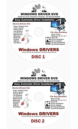 2019 Automatic Driver Recovery [Disc 1 & Disc 2] Drivers for Windows 10, 8.1, 7, Vista, XP Supports Dell HP Gateway Toshiba Gateway Acer Asus Samsung MSI Lenovo Sony IBM Compaq eMachines ??????????