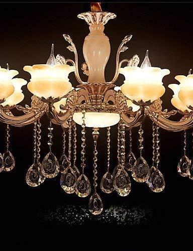 XXYHYQHJD Una Vida de Lujo de luz Ambiental Cuarto de Hotel Lámpara de luz de Velas Salón Dormitorio Restaurante Luces 220-240V Colgante de luz (Color : 220-240v)