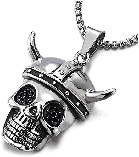 ZPPYMXGZ Co.,ltd Necklace Fashion Men Boys Personality Fashion Charm Horn Taurus Skull Pendant Necklace Easy to Match Pendant Necklace