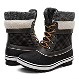 GLOBALWINGLOBALWIN Women's Winter Snow Boots Black/Grey 8.5 M US