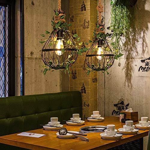 Warm Home Industrial Retro Restaurant Creatieve melk thee salontafel eettafel hal balkon plafondlamp retro zwart