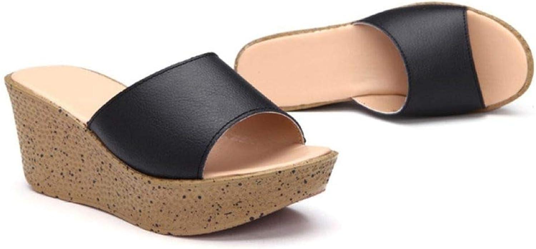 MEIZOKEN Womens Wedges Platform Sandals Casual Open Toe Non-Slip Comfort High Heel Beach Slide Slippers