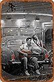 Legendary Crossroads Marilyn Monroe Elvis Presley Letrero de chapa vintage, pintura de hierro, letrero de metal retro, placa, arte, decoración de pared, 8 × 12 pulgadas