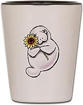 CafePress Sunny Manatee Shot Glass, Unique and Funny Shot Glass
