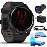 Garmin Legacy Saga Darth Vader Star Wars Smartwatch (45mm) Kit with USB Adapters and 6Ave Cleaning Kit