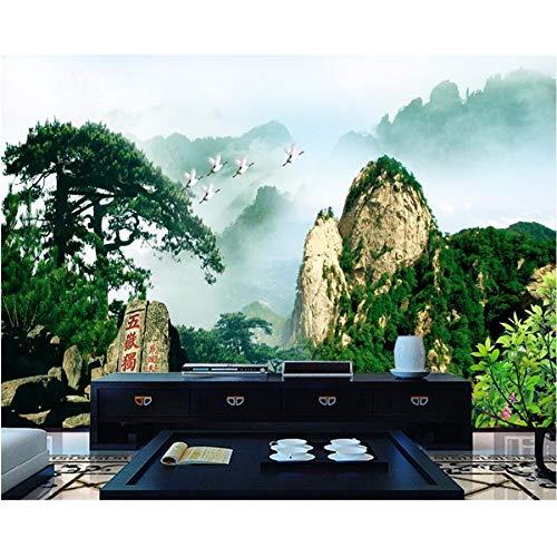 Pmhc Fond D'écran Gepersonaliseerde foto, Atmosphère Huangshan Accueillant Pin Tv Toile De Fond Décoration 3D-papier Peint 400x280cm