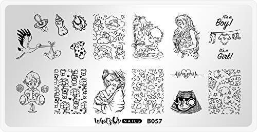 Whats Up Nails - B057 The Gift of Life Stamping Plate for Nail Art Design