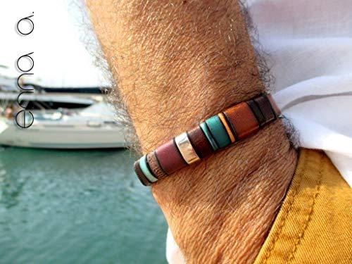 Pulsera de cuero marrón, Enna clasic N 27, pulsera cuero, pulsera ...