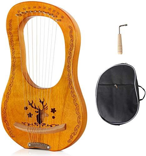 RROWER Lyre Harp,10 Metal String Harp Heptachord Harp,with Durable Steel...