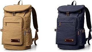 Mountaineering Bag, Duffel Bag, Canvas Shoulder Bag, 55L, Classic Black, Brown, Large Capacity, Travel Essential (Color : Brown)