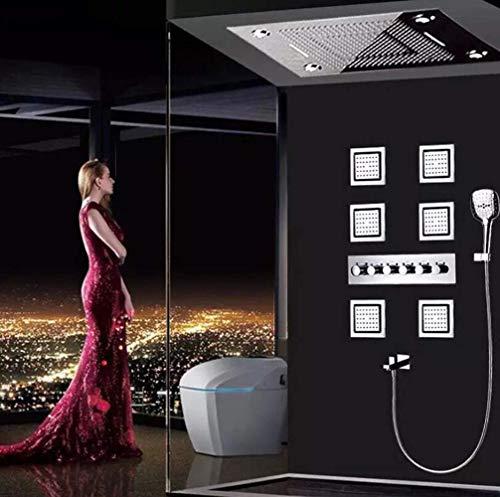 600 * 800 große Himmel Vorhang Dusche Set/LED Licht Temperatur intelligente Dunkelheit in Wand Dusche