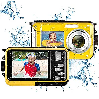 Underwater Waterproof Digital Camera for Snorkeling FHD 2.7K 48MP Selfie Dual Screen Video Camcorder Point & Shoot Digital Camera by Kansing
