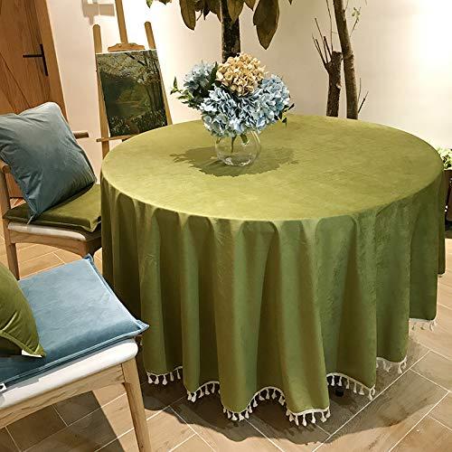 Creek Ywh tafelkleed, tafelloper, partytafelkleed, rond, groot, rond tafelkleed, effen hotel, tafelkleed, rok, blauw, groen, tafelkleed met franjes, suède, steen, groen, ronde tafel.