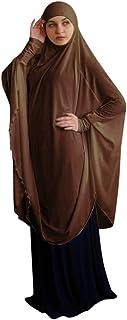 Homemari Women Muslim Clothing Womens Prayer Dress Large Size Solid Color Full Cover Women