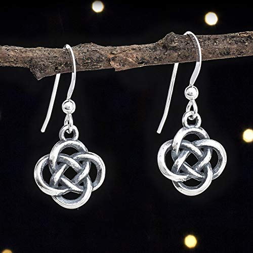 Sterling Silver 3D Celtic Love Knot Earrings - Small, Double Sided - Handmade, Solid .925