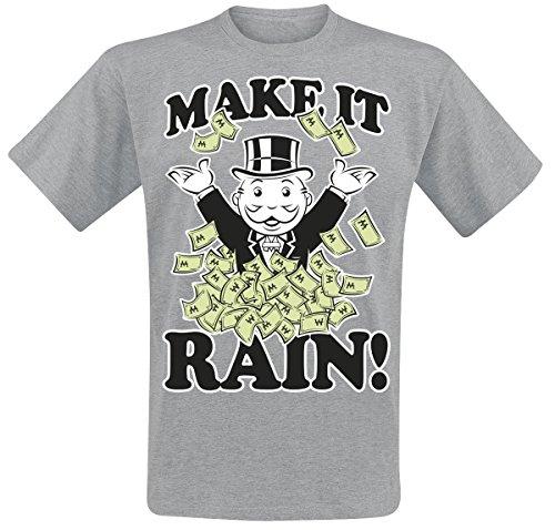 Monopoly Make It Rain Camiseta Gris/Melé XXL