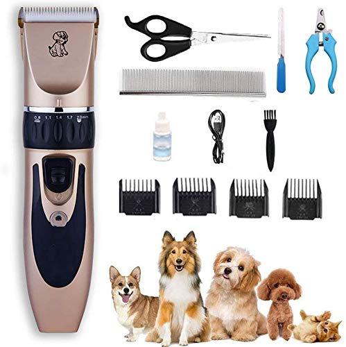 JIAFENG USB aufladbare Haustier-Haar-Scherer-Hundehaar-Trimmer-Kit Haustier Hund Katze Elektrorasierer Haarschneider Cat Grooming Maschinenzubehör-Nail_Clipper_Package,Nail Clipper Package