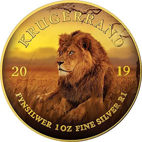 Power Coin Lion Löwe Krugerrand Big Five 1 Oz Silber Münze 1 Rand South Africa 2019