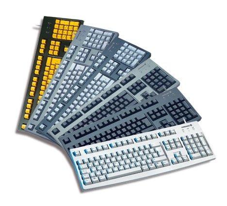CHERRY Classic Line G83-6105 - Tastatur - Laser - 105 Tasten QWERTY - Schwarz
