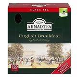 AHMAD TEA ( アーマッドティー ) イングリッシュブレックファースト ティーバッグ 100袋 [ 英国ブランド 個包装 ]