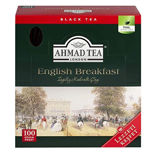 Ahmad Tea - English Breakfast   Schwarzer Tee   100 Teebeutel á 2 g mit Band und aromaversiegelt in Folie verpackt