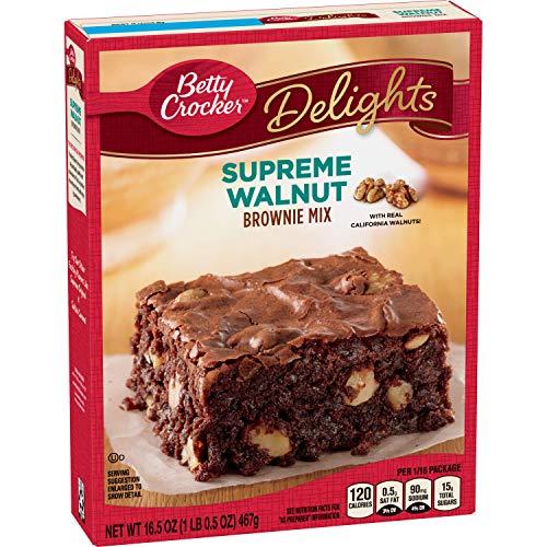 Betty Crocker Delights Supreme Walnut Brownie Mix 165 Oz Box