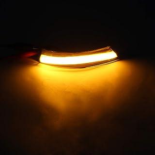 Entweg 2 unidades de luz de sinalização dinâmica LED lateral asa espelho retrovisor indicador luz pisca-pisca substituição...
