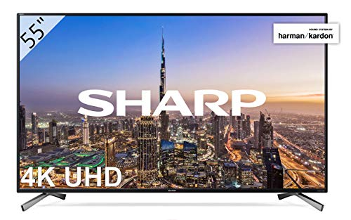 "Sharp LC-55UI8652E - UHD Smart TV Slim de 55"" (resolución 3840 x 2160, HDR+, 3X HDMI, 2X USB, 1x USB 3.0) Color Negro"