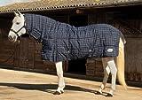 Rhinegold Full Neck Dakota Stable Quilt Horse Rug Navy/White Check, 5 6