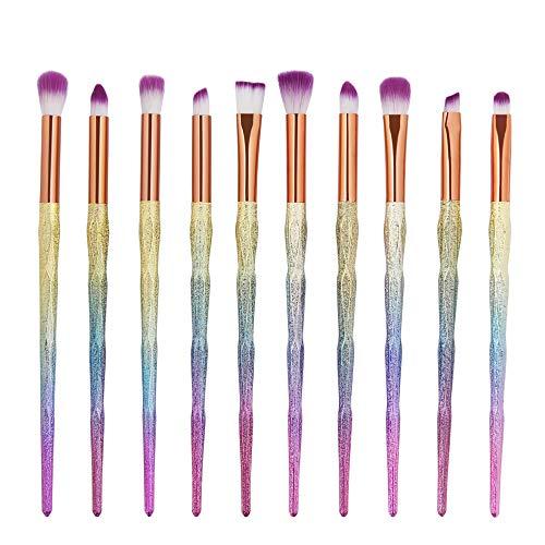 Ensemble de brosse de maquillage, 20pcs Premium Eye brosses cosmétiques pour eyeliner Eye Shadow sourcil, fibre synthétique poils cosmétiques mélange brosse outil,DC