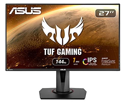ASUS VG279Q 68,68 cm (27 Zoll) Gaming Monitor (Full HD, 144Hz, FreeSync, 3ms Reaktionszeit, DVI, HDMI, DisplayPort) schwarz