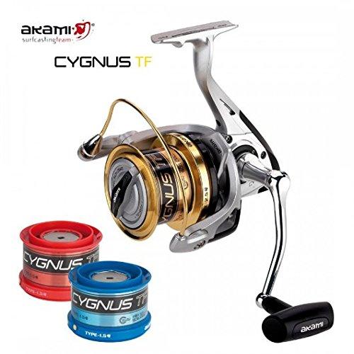akami Cygnus TF - carrete para pesca surfcasting de 2bobinas, de teflón