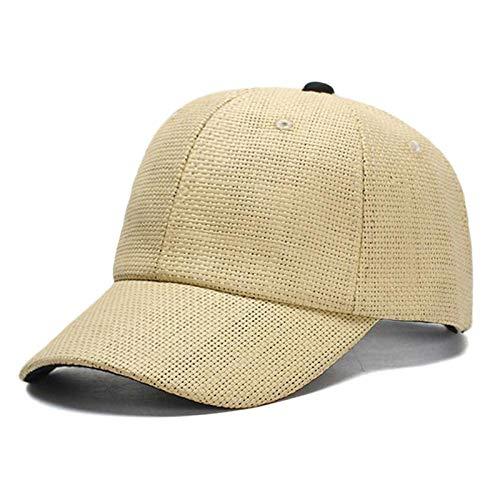 sdssup Paare Freizeit Reisen Einkaufen Strand Baseballmütze Gras Einfarbig Hut Beige M (56-58cm)