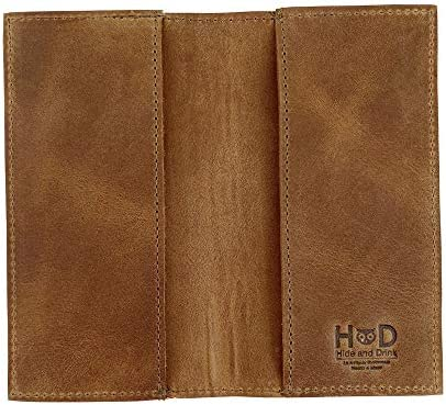 Hide Drink Rustic Durable Thick Leather Checkbook Cover Minimalist Organizer Wallet Everyday product image