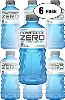 Powerade Zero Blue Mixed Berry, Zero Calorie Sports Drink, 32oz Bottle (Pack of 6, Total of 192 Oz)