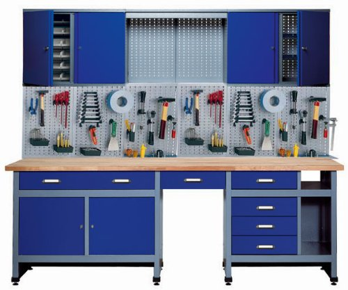 Küpper 70412-7 werkplaatsset 240 cm, Made in Germany, donkerblauw