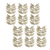 Amosfun 80 piezas de madera sin terminar adornos navideños recortes alas de ángel manualidades bricolaje adornos colgantes adornos para árbol de navidad