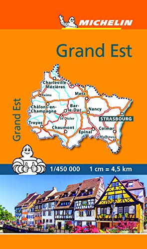 Mini Carte Grand Est Michelin (CARTES (7600))
