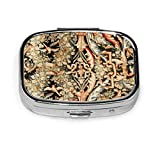 Pillendose/Pillendose/Pillendose für Geldbörse oder Taschen, tragbar, antikes französisches Gobelins Aubusson